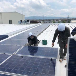 工場太陽光発電復旧工事